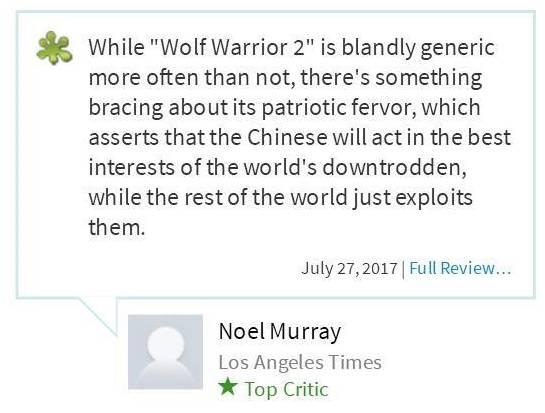 《战狼2》北美票房扑街!评论严重分化,掐得你死我活