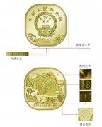 中国首枚异形纪念币是什么样子的