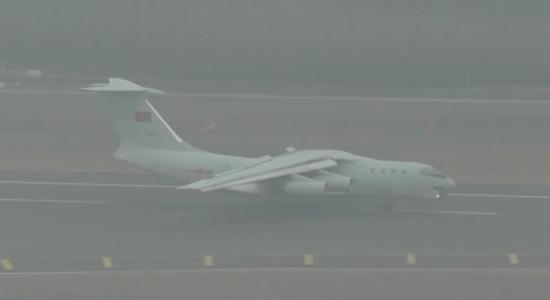 伊尔-76运输机运输机 图源:央视新闻